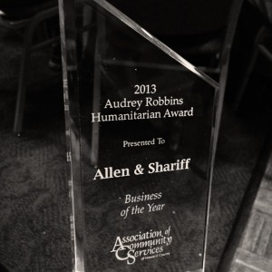 Allen Shariff Business of the Year 2013